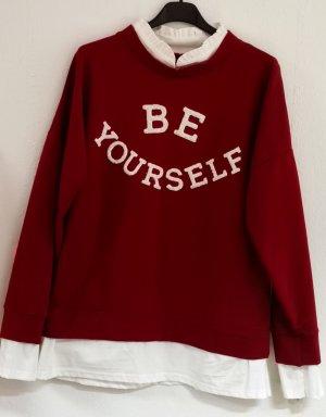Blusensweatshirt Sweatshirt Pulli one size Einheitsgröße