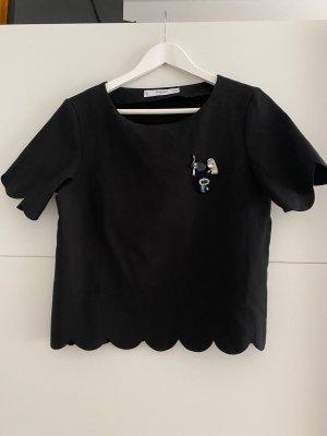 Mango Basics Camisa de mujer negro