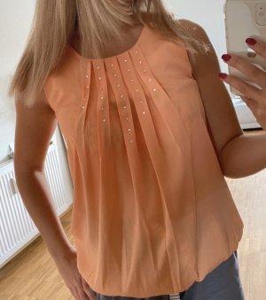 Vero Moda Blouse topje abrikoos-licht Oranje