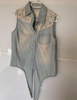 Blusentop Jeans in Größe S