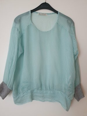Max Volmáry Blouse Top white-turquoise
