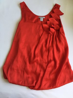 H&M Silk Top red
