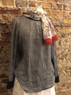 Blusentop von OTTO KERN Designer Bluse langarm Vichy Glencheck S 36
