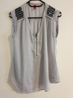 Sir Oliver Blouse Top silver-colored-light grey