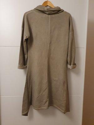 Camicia a tunica grigio-verde