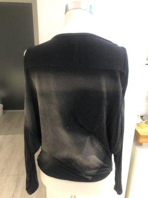 Blazer in jeans nero-grigio scuro