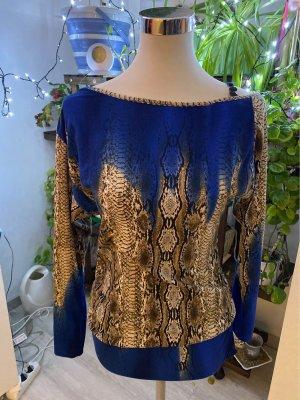 Empiècement de blouses marron clair-bleu