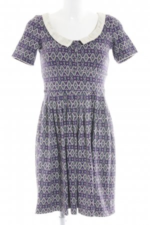 Blutgeschwister A Line Dress lilac-natural white allover print casual look