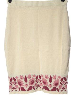 Blutgeschwister Kokerrok room-roze bloemenprint casual uitstraling