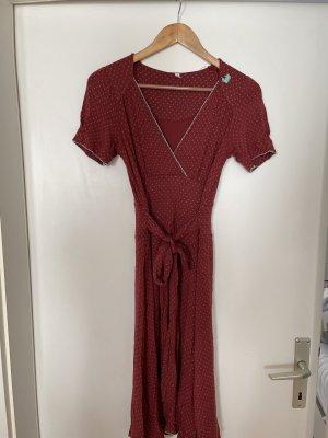 Blutgeschwister Midi-jurk donkerrood Katoen
