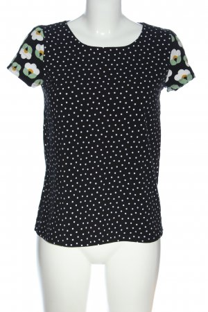 Blutgeschwister Short Sleeved Blouse black-white spot pattern casual look
