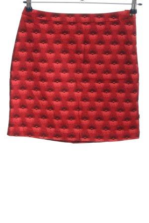 Blutgeschwister Minigonna rosa-rosso stampa integrale elegante
