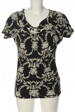 Blutgeschwister Shirt met print zwart-wolwit abstract patroon casual uitstraling