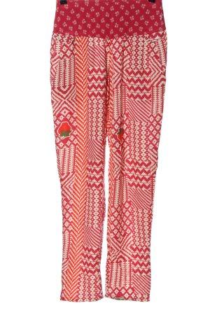 Blutgeschwister Stoffen broek wolwit-roze abstract patroon elegant