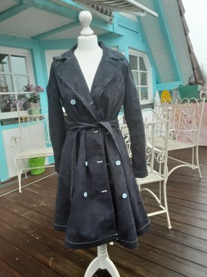Blutgeschwister Trench Coat anthracite cotton