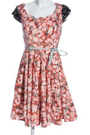 Blutsgeschwister A-Linien Kleid Allover-Druck Casual-Look