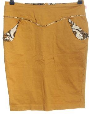 Blutsgeschwister Jupe crayon orange clair-blanc cassé motif abstrait