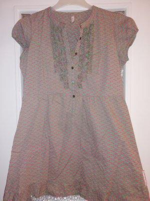 Blutsgeschwister Blutsschwester Kleid Tunika oliv-pink