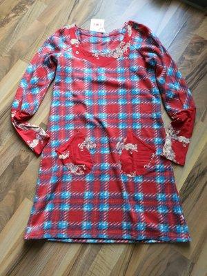 Blutsgeschwister Robe tunique rouge foncé