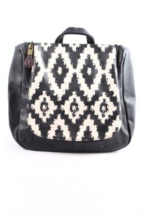 Blutsgeschwister Handtasche schwarz-creme grafisches Muster Casual-Look