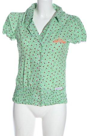 Blutsgeschwister Blusa-camisa estampado con diseño abstracto elegante