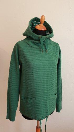Blutsgeschwister Hoodie Baumwolle Struktur Grün Kapuzenpulli Pulli Pullover S
