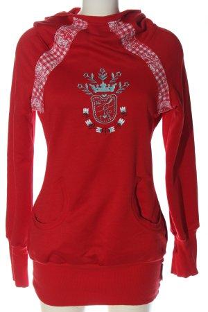Blutsgeschwister Sweatshirt met capuchon rood geborduurde letters