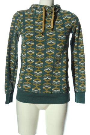 Blutsgeschwister Sweatshirt met capuchon volledige print casual uitstraling