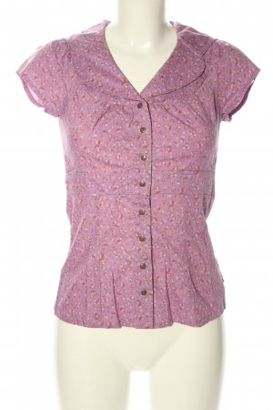 Blutsgeschwister Kurzarm-Bluse pink-nude Allover-Druck Casual-Look
