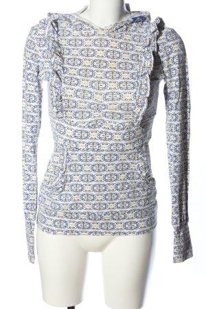 Blutsgeschwister Shirt met capuchon abstract patroon casual uitstraling