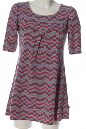 Blutsgeschwister Long-Bluse abstraktes Muster Casual-Look