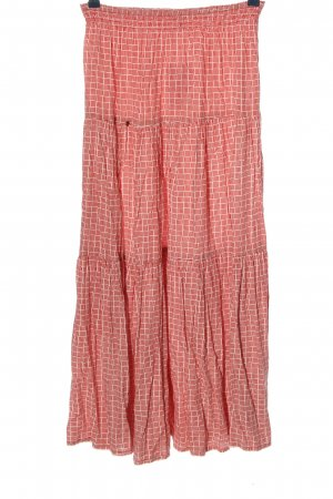 Blutsgeschwister Maxi rok rood-wit casual uitstraling