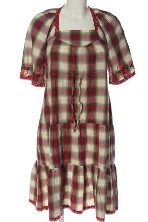 Blutsgeschwister Midi-jurk geruite print casual uitstraling