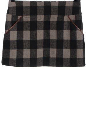 Blutsgeschwister Mini-jupe blanc cassé-noir motif à carreaux
