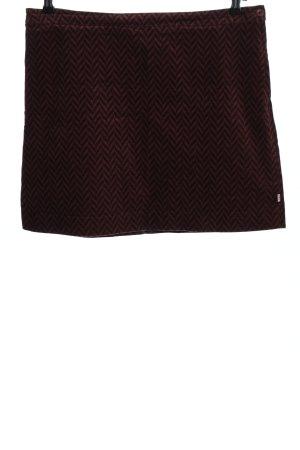 Blutsgeschwister Mini-jupe brun motif graphique style décontracté