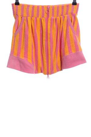 Blutsgeschwister Mini-jupe rose-orange clair motif rayé style extravagant