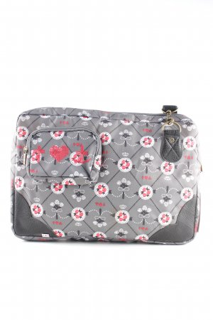 Blutsgeschwister Laptop bag light grey allover print casual look