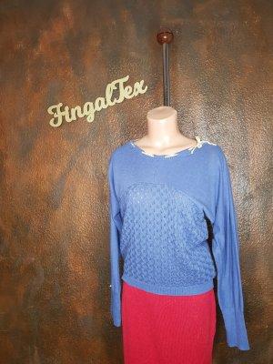 Blutsgeschwister Maglione lavorato a maglia azzurro