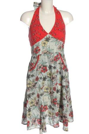 Blutsgeschwister schulterfreies Kleid Blumenmuster Casual-Look