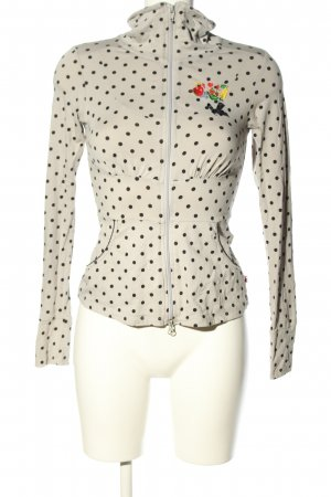 Blutsgeschwister Shirt Jacket natural white-black allover print casual look