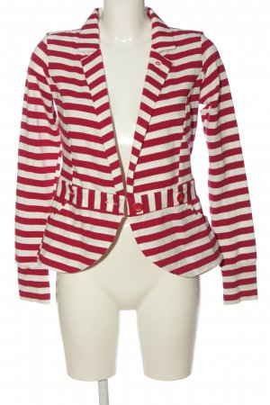 Blutsgeschwister Knitted Blazer red-white striped pattern casual look