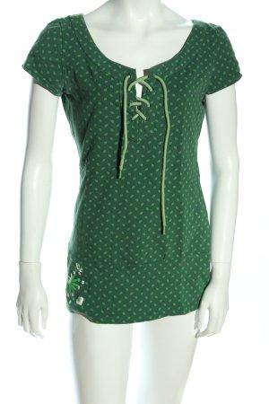Blutsgeschwister T-Shirt grün Allover-Druck Casual-Look