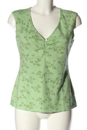 Blutsgeschwister T-Shirt grün-wollweiß Allover-Druck Casual-Look