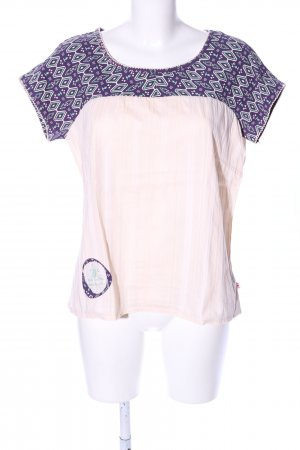 Blutsgeschwister T-Shirt creme-lila Allover-Druck Casual-Look