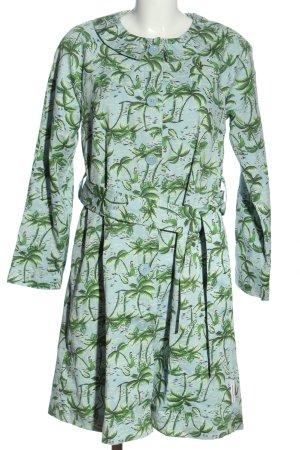 Blutsgeschwister Between-Seasons-Coat blue-green allover print casual look