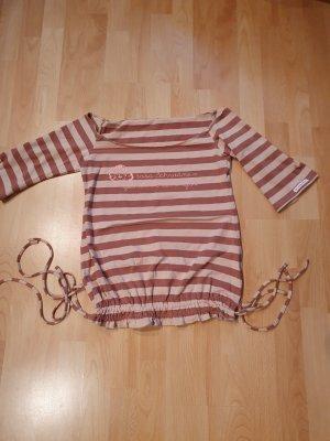 Blutsschwester T-shirt rayé vieux rose-gris lilas