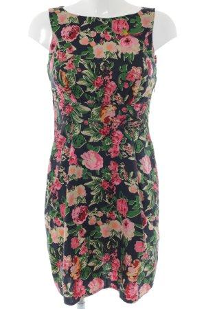 Blutsschwester A-Linien Kleid Blumenmuster Casual-Look
