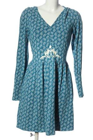 Blutsschwester Hooded Dress blue allover print casual look
