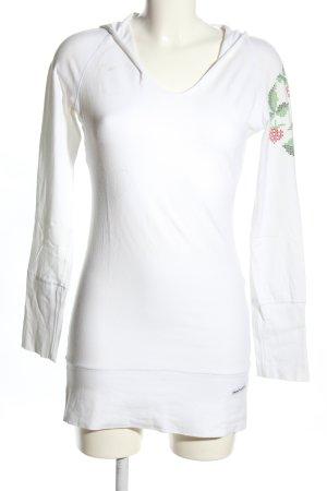 Blutsschwester Jersey con capucha blanco estampado temático look casual