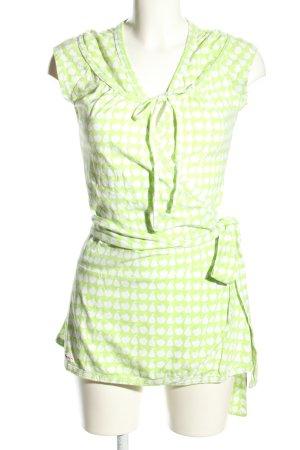 Blutsschwester Longshirt grün-weiß Allover-Druck Casual-Look